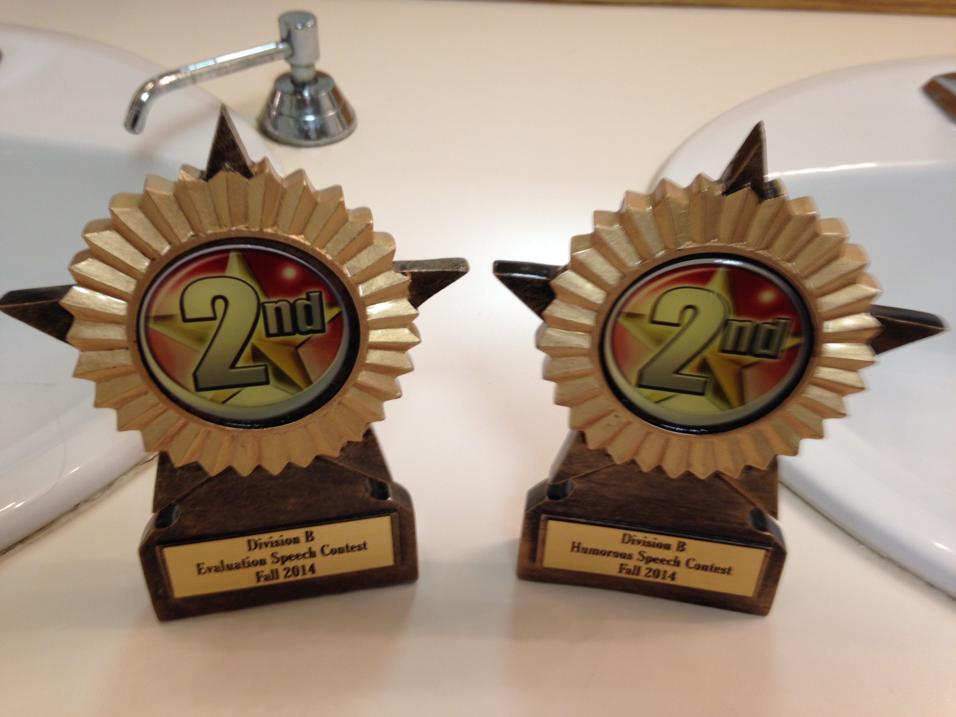 2nd Place Trophies for both Div B Fall Contests 2014