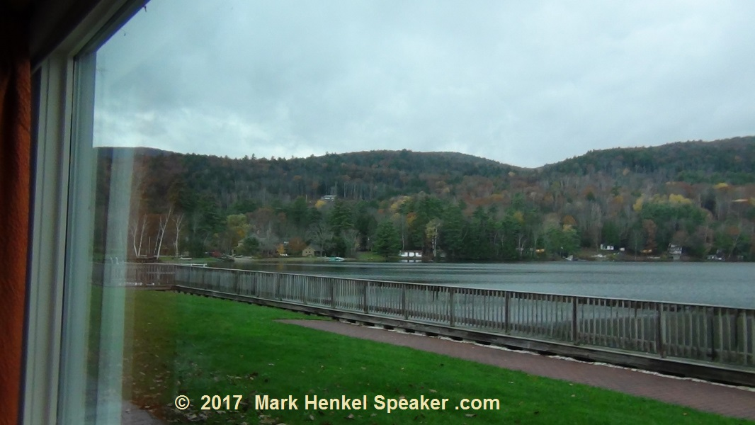 Lake Morey Resort – Fairlee, VT – View from Breakfast Dining Room