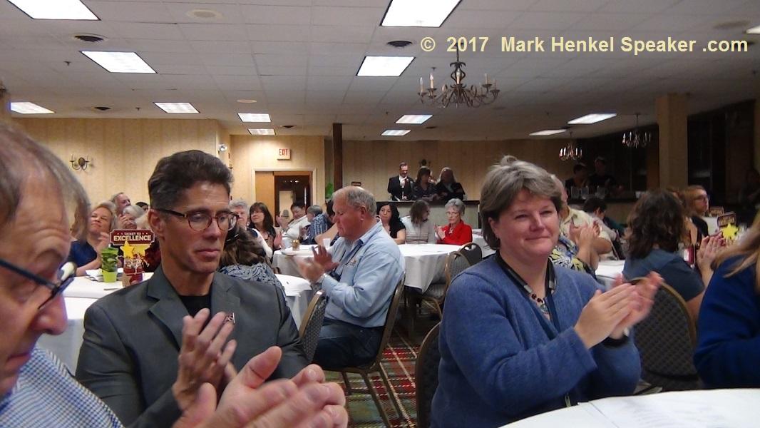 District 45 Fall Conference 2017 - David Cormier, my mentor Joe Grondin, and Priscilla Hansen Mahoney