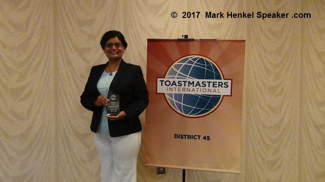 Last D45 Evaluation Contest 2017 - Manasi Kadade wins 1st Place