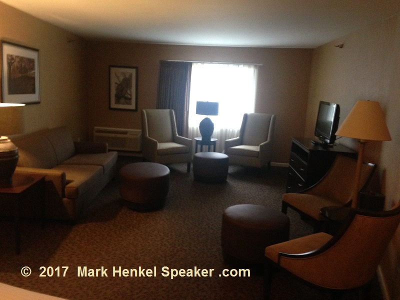 Lake Morey Resort – Fairlee, VT – Room - View from beds toward only window