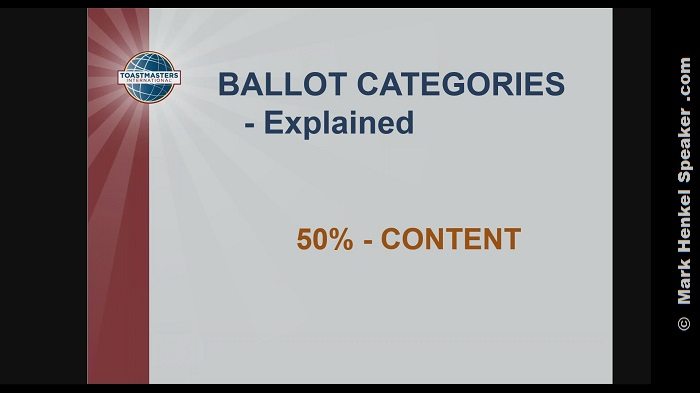 Section 4 - Ballot Categories - Explained