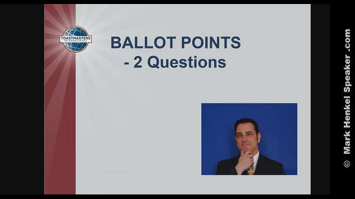 Section 5 - Ballot Points - 2 Questions