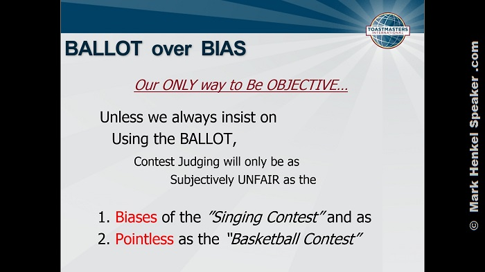 """BALLOT over BIAS"""
