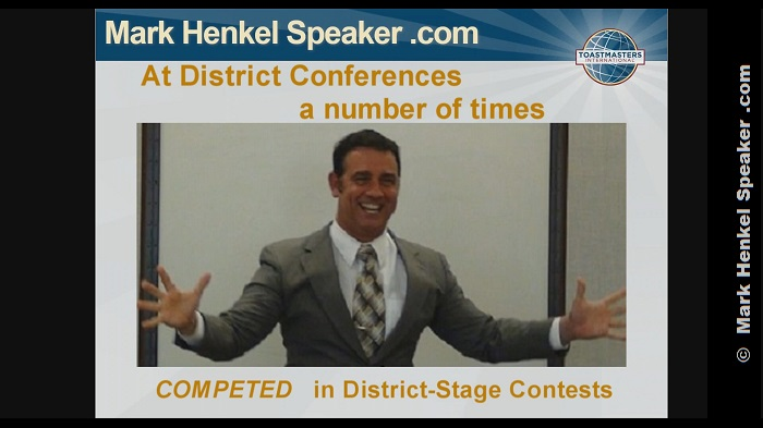 Mark Henkel has Competed on the District-level Contest stage a number of times.