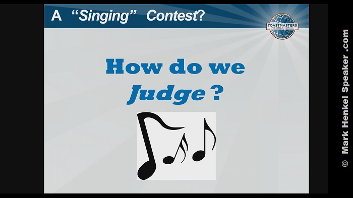 "The ""Singing Contest"" in Section 1"