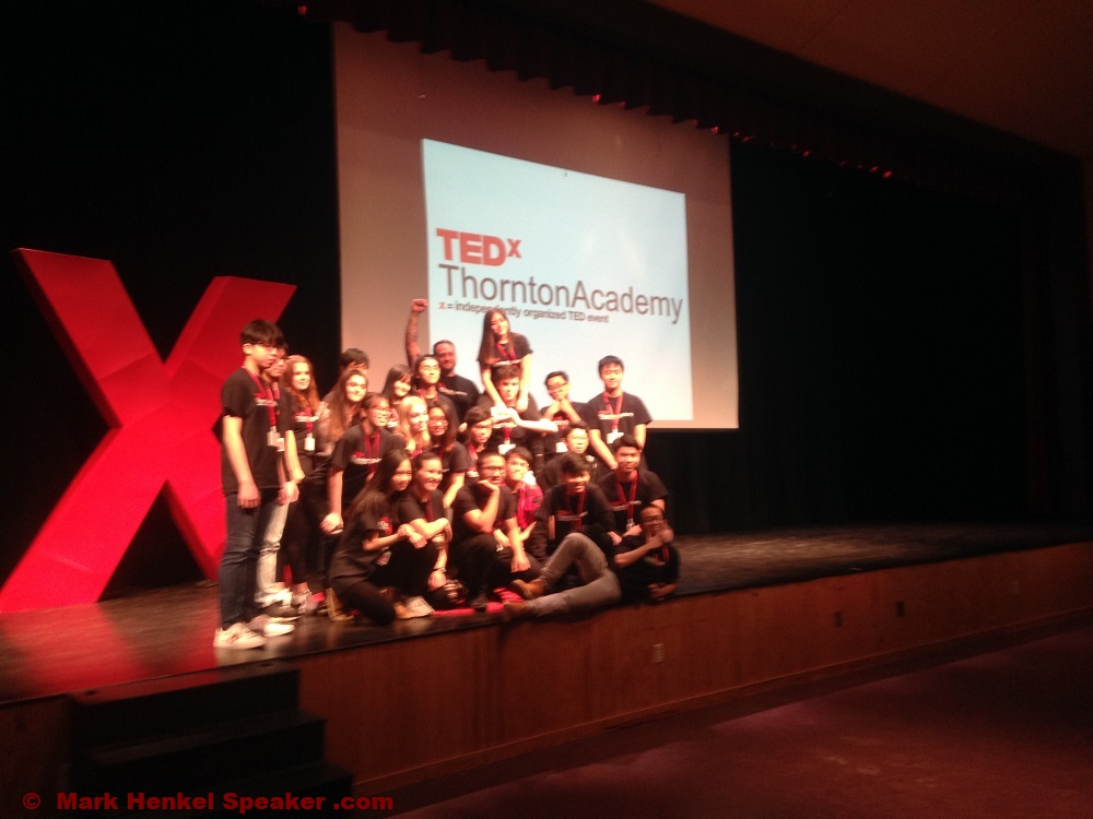 TEDxThorntonAcademy 2019 - stage and the team